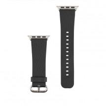 Kožený řemínek pro Apple watch 42/44 mm, černá