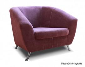 Křeslo Lira fialová - II. jakost