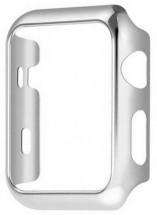 Kryt COTEetCI pro Apple Watch 4/5/6 44mm, polykarbonát, stříbrná