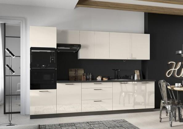Kuchyně Betty 320 cm (jasmín, lesk)