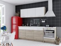 Kuchyně Coco 240 cm (dub sonoma, bílá)