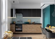 Kuchyně Dixie 260 cm (černá/dub)