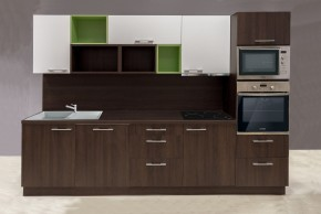 Kuchyně Domino (dub bardolino schoko,bílá,oliva) - II. jakost
