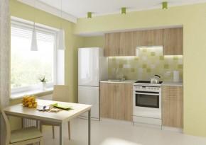 Kuchyně Donald - 180 cm (dub sonoma/bílá)