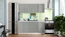 Kuchyně Emilia Lux 180 cm (šedá lesk) - II. jakost