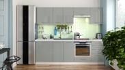 Kuchyně Emilia Lux - 240 cm (šedá vysoký lesk)