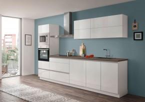 Kuchyně Eugenie 300 cm (bílá, vysoký lesk, lak)