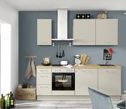 Kuchyně Inge 220 cm (šedá, dub)