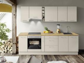 Kuchyně Inge 270 cm (šedá, dub)