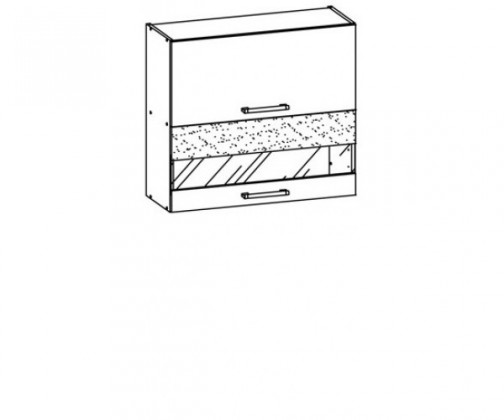 Kuchyně, jídelny ZLEVNĚNO Marina 80 (rijeka světlá/bordo brokát lesk,jasmín lesk)
