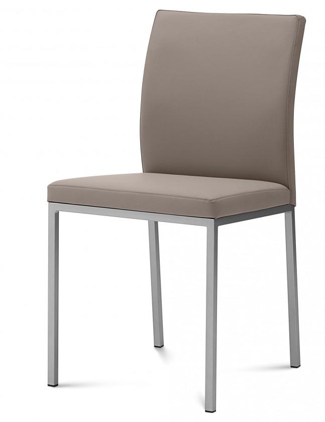 Kuchyně, jídelny ZLEVNĚNO Miro - Jídelní židle (saténový hliník, taupe B14)