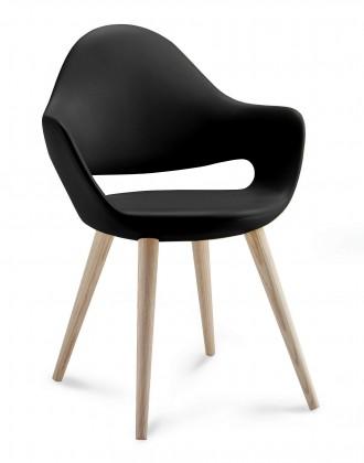 Kuchyně, jídelny ZLEVNĚNO Soft-l - Jídelní židle (černá)