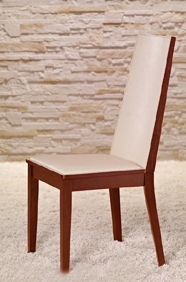Kuchyně, jídelny ZLEVNĚNO Vicente - Jídelní židle (třešeň/eko kůže krémová)