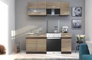 Kuchyně Larisa - 180 cm (dub sonoma světlý/tmavý)