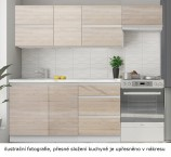 Kuchyně Line - 180 cm (dub sonoma/bílá)
