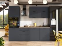 Kuchyně Lisa - 240 cm (šedá) - II. jakost