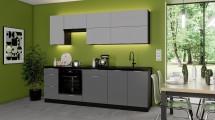 Kuchyně Mindy 240 cm (šedá mat)