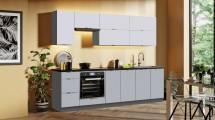 Kuchyně Mindy 260 cm (šedá mat) II. jakost