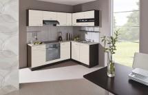 Kuchyně Nina - 220 x 160 cm (woodline creme/dub tmavý/písek)