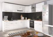 Kuchyně Rio - 270x180 cm (bílá lesk/dub sonoma)
