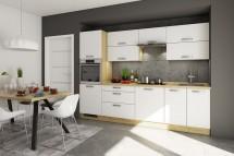 Kuchyně Sabrina - 280 cm (bílá/dub arlington)