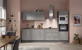 Kuchyně Ute 300 cm (světlý beton)