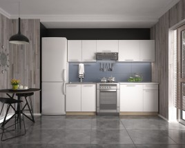 Kuchyňská linka Daria - 240 cm (bílá/dub sonoma)