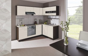 Kuchyňská linka Nina - 220x160 (woodline creme/dub tmavý/písek)