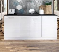 Kuchyňská protilinka Emilia 200 cm (bílá)