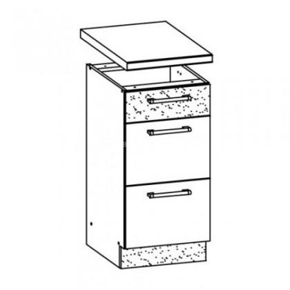 Kuchyňská skříň Marina MD14/D45S3 (jasmín lesk/eben lesk)