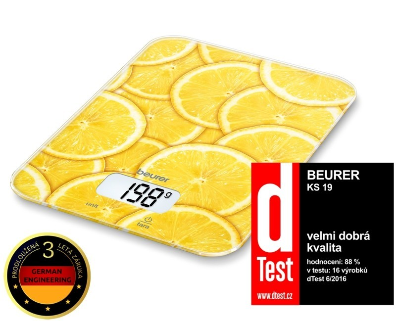 Kuchyňská váha Kuchyňská váha BEURER KS 19 LEMON
