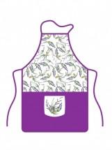 Kuchyňská zástěra s kapsou Banquet Lavender, fialová