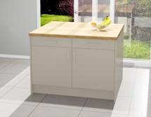 Kuchyňský ostrůvek Inge 120x80 cm (šedá, dub)