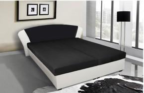 Kula - postel (bílá, černá mura 100)