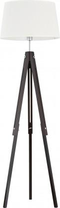 Lampa Lorenzo wood (černá, 157 cm)