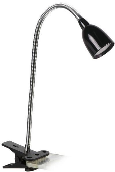 Lampička Solight LED stolní lampička 2,5W, 3000K, clip, černá WO33-BK