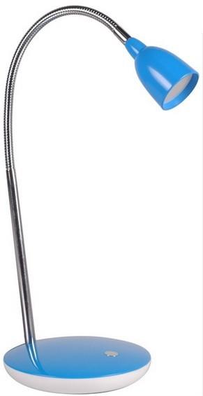 Lampička Solight LED stolní lampička 2,5W, 3000K, podstavec, modrá WO32-BE
