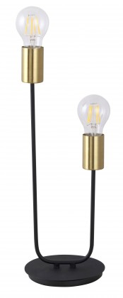 Lampy Stojací lampa Lens, kovová, 2 zdroje světla, 42cm