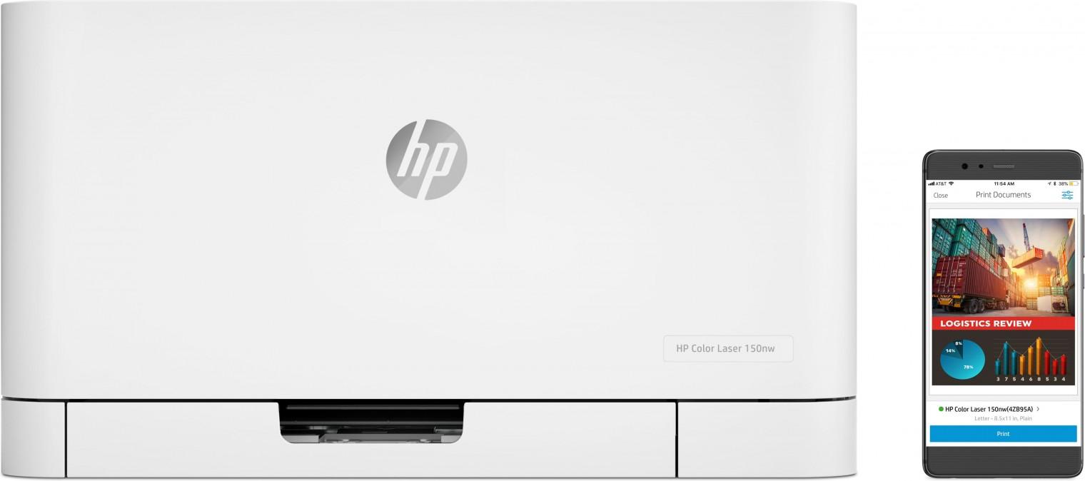 Laserová tiskárna Laserová tiskárna HP Color Laser 150nw, 4ZB95A POUŽITÉ, NEOPOTŘE