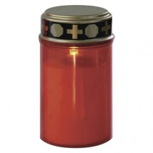 LED hřbitovní svíčka Emos ZY2371T, 2× C, časovač, červená