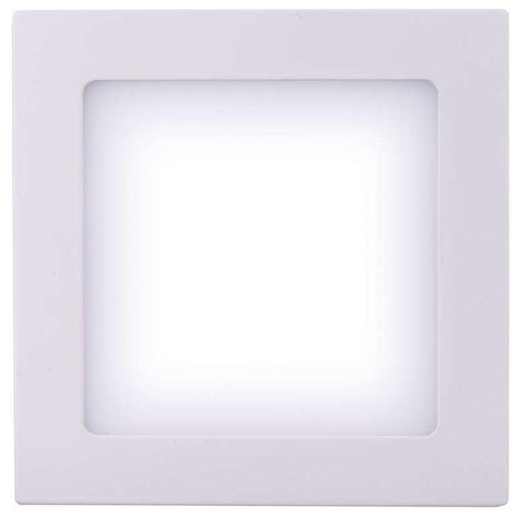 LED osvětlení LED stropní přisazené svítidlo čtverec 6W studená bílá IP20