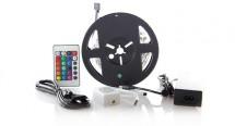 LED pás Solight WM55, RGB, 3m, adaptér, dálkový ovladač