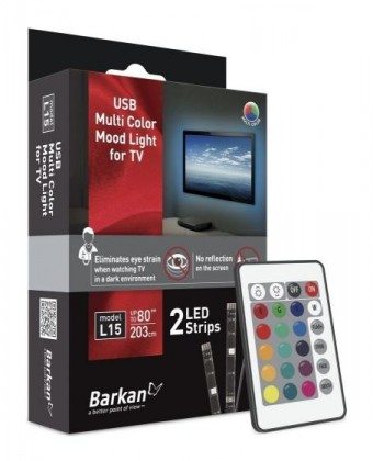 LED pásky Barkan (BARL15) USB osvětlení pro TV