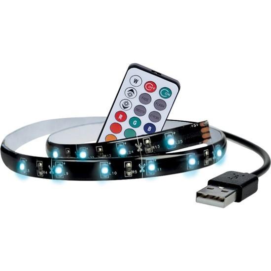 LED pásky LED RGB pásek pro TV, 2x 50cm, USB, vypínač, dálkový ovladač