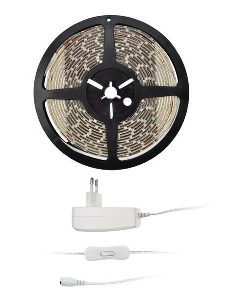 LED pásky Solight LED světelný pás 5m 12V + adaptér IP20 (WM50-20T)