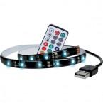 LED RGB pásek pro TV, 2x 50cm, USB, vypínač, dálkový ovladač