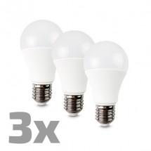 LED žárovka, 10W, E27, 3000K, 270°, 790lm, 3ks v balení
