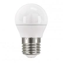 LED žárovka Emos ZQ1120, E27, 6W, kulatá, čirá, teplá bílá