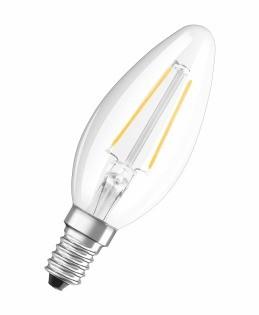 LED žárovka Osram STAR, E14, 2,8W, svíčka, retro, teplá bílá