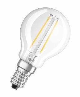 LED žárovka Osram STAR, E14, 4W, kulatá, teplá bílá